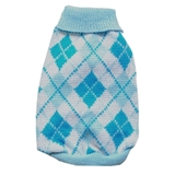 Dog Sweater Blue Plaid
