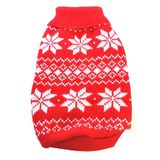 Dog Sweater Red Snow