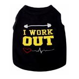 Dog  T Shirt Black Work Out