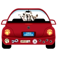 Chinese Crested  Dog Magnet Pupmobile