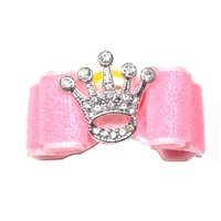 Dog Hair Bow Rhinestone Crown