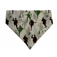 Dog Collar Bandana  Army Men Camo