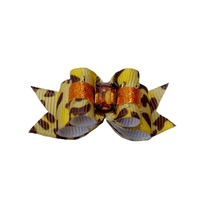 Dog Hair Bow Gold Animal