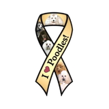 Poodle Ribbon Dog Magnet
