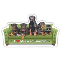 Rottweiler Dog  Magnet Couch Pawtato