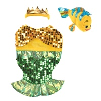 Dog Dress Up Costume Mermaid with Toy