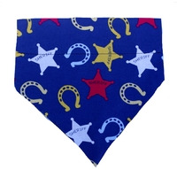 Dog Bandana Blue Sheriff