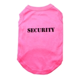 Dog T Shirt Pink Security