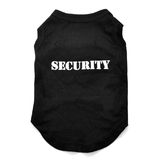 Dog T Shirt Security Black