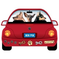 Miniature Pinscher Dog  Magnet Pupmobile