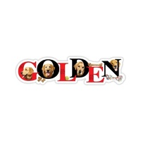 Golden Retriever Alpha  Magnet