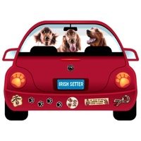 Irish Setter Dog  Magnet Pupmobile