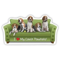 Beagle Dog  Magnet Couch Pawtato