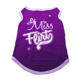 Dog T Shirt Little Miss Flirty