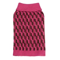 Dog Sweater Pink Cable Twist