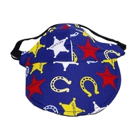 Dog Hat XS S M L XL Blue Sheriff - Adjustable Puppy Pet Cap Visor Sun Protection