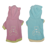 XS Dog Hoodie Pink or Blue Bear
