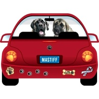 Bull Mastiff Dog Magnet Pupmobile