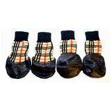 Dog Socks Waterproof Tartan