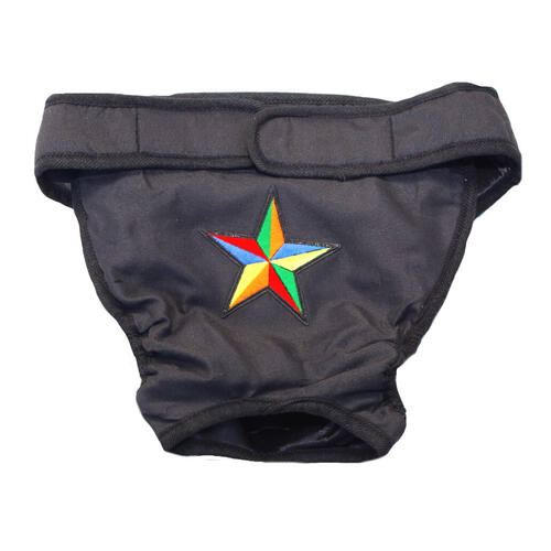 Large Dog Pants Black with Star Patch
