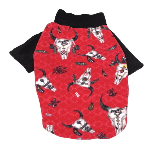Large Dog Sweater Fleece Red Rawhide