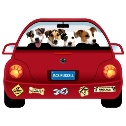 Jack Russell Dog Magnet Pupmobile