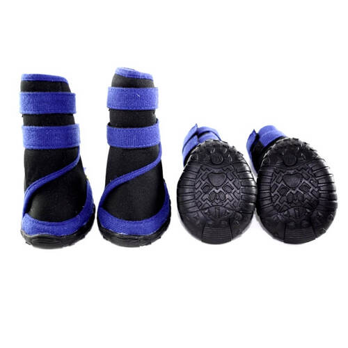Dog Shoes Waterproof Blue